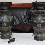 Estimer paire de vase japonais en bronze