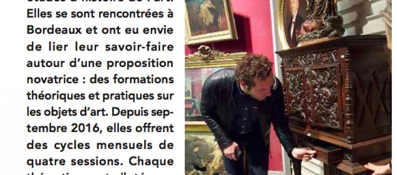 Initiation à l'expertise du  mobilier ancien avec l'Art du Regard et le MADD de Bordeaux: 30/11, 07/12, 11/12 et 21/12