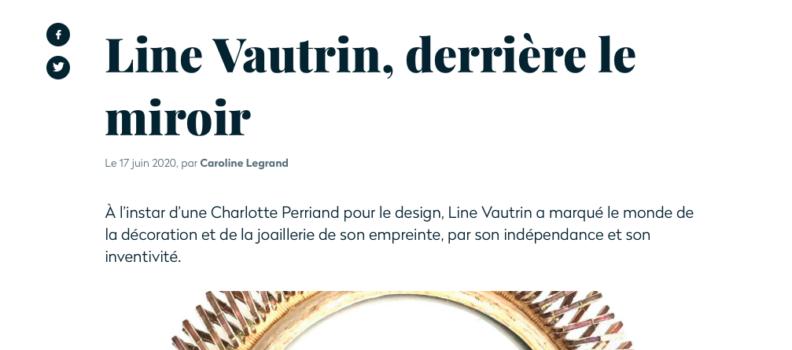 """Focus sur le miroir """"Boudoir"""" de Line VAUTRIN Merci à la GAZETTE DROUOT"""